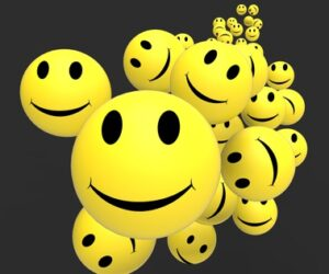 Smileys Showing Happy Cheerful And Positive Faces
