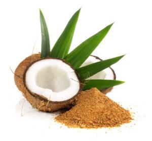 Kokosnuss mit Kokosbltenzucker
